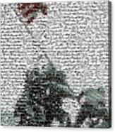 Iwo Jima War Mosaic Acrylic Print