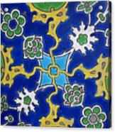 Iznik Tiles In Topkapi Palace Istanbul  Acrylic Print