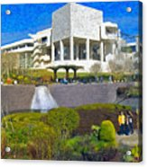 J. Paul Getty Museum Central Garden Panorama Acrylic Print