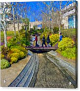 J Paul Getty Museum Garden Terrace Acrylic Print