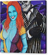 Jack And Sally Acrylic Print