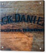 Jack Daniels Oak Barrel Acrylic Print