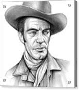 Cowboy Jack Elam Acrylic Print