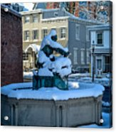 Jack Frost Visits For First Day Of Spring Acrylic Print