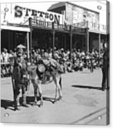 Jack Hendrickson With Pet Burro Number 2 Helldorado Days Parade Tombstone Arizona 1980 Acrylic Print