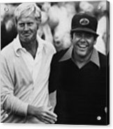 Jack Nicklaus, Lee Trevino, At The U.s Acrylic Print by Everett
