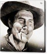 Jack Palance, Vintage Actor Acrylic Print