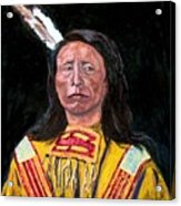 Jack Red Cloud Acrylic Print