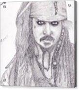 Jack Sparrow Acrylic Print
