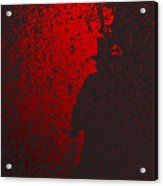 Jack The Ripper In Red Light Acrylic Print
