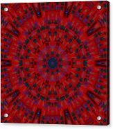 Jackson Dk2 Guitar Kaleidoscope Acrylic Print