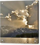 Jackson Lake Sunset View Acrylic Print