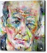 Jackson Pollock - Watercolor Portrait.3 Acrylic Print
