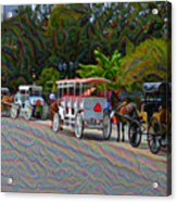 Jackson Square Horse And Buggies Acrylic Print