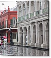 Jackson Square Rainy Day  Acrylic Print