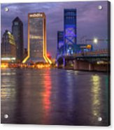 Jacksonville At Dusk Acrylic Print
