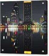 Jacksonville Black Night Lights Acrylic Print