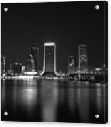 Jacksonville Landing At Night Acrylic Print