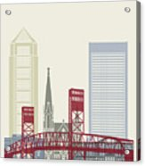 Jacksonville Skyline Poster Acrylic Print