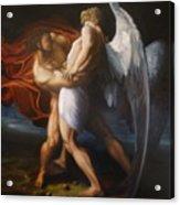 Jacob Wrestling The Angel Acrylic Print