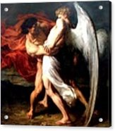 Jacob Wrestling With The Angel Acrylic Print