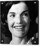 Jacqueline Kennedy As First Lady. Ca Acrylic Print by Everett