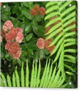 Jacqueline's Garden - Camaraderie Of Textures Too Acrylic Print