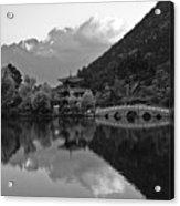 Jade Dragon Snow Mountain Acrylic Print