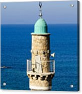 Jaffa, The Turret Of The El Baher Mosque Acrylic Print