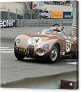 Jaguar C-type At Monaco Acrylic Print