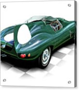 Jaguar D Type Acrylic Print