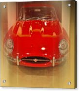 Jaguar E-type 1960s Acrylic Print