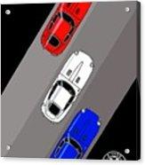 Jaguar E-type - 3 Times The Fun Acrylic Print