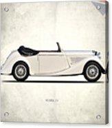 Jaguar Mark Iv Coupe Acrylic Print by Mark Rogan