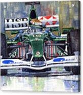 Jaguar R3 Cosworth F1 2002 Eddie Irvine Acrylic Print