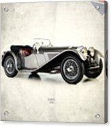 Jaguar Ss100 1936 Acrylic Print by Mark Rogan