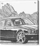 Jaguar Xj-r Sports Car Art Print Acrylic Print