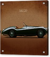 Jaguar Xk120 1949 Acrylic Print by Mark Rogan