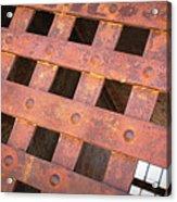 Rusty Jailhouse Door Acrylic Print