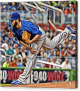 Jake Arrieta Chicago Cubs Pitcher Acrylic Print