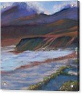 Jalama Beach At Sunset Acrylic Print