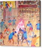 Jallikattu- The Bull Fight Acrylic Print