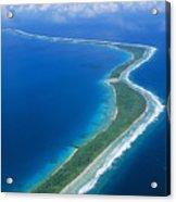 Jaluit Atoll And Lagoon Acrylic Print