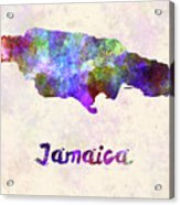 Jamaica In Watercolor Acrylic Print