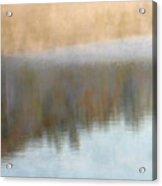 Deep Mist And Reflections On Jamaica Pond Acrylic Print