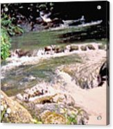 Jamaica Rushing Water Acrylic Print