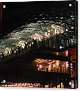 Jamaica Station In Lights Acrylic Print