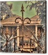 Jamaican Gate Acrylic Print by Jane Linders