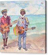 Jamaican Musician Watercolor Acrylic Print
