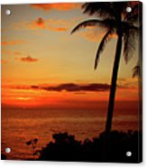 Jamaican Sunset Acrylic Print by Kamil Swiatek